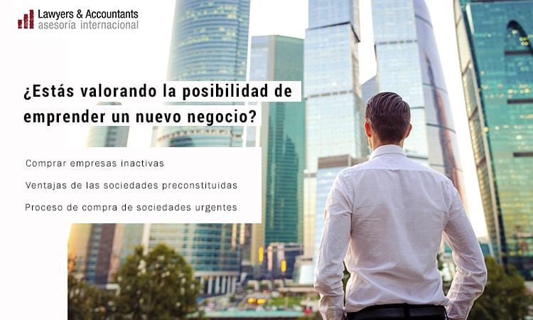 Venta de Sociedades Urgentes en Madrid